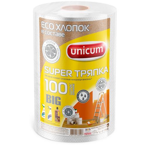 Тряпка в рулоне Unicum Super тряпка BIG (тиснение Вафля) 100 шт, белый