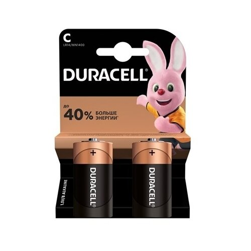 Фото - Батарейка Duracell Alkaline LR14 2 шт. батарейка c ergolux lr14 alkaline bl 2 lr14 bl2