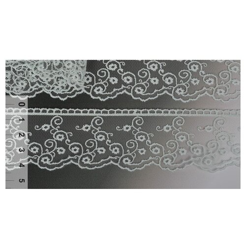 Купить Кружево на сетке KRUZHEVO TR.4886 шир.45мм цв.375 персик уп.14м, Декоративные элементы
