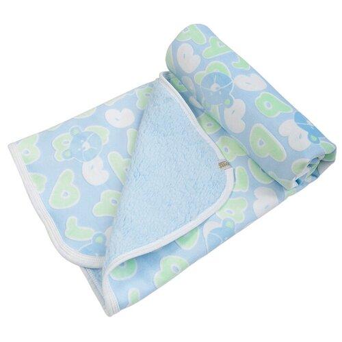Купить Плед Алфавит , цвет: голубой, 85х85 см, Сонный Гномик, Покрывала, подушки, одеяла