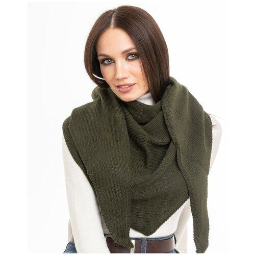 Женский теплый шарф-платок из шерсти, ТМ Reflexmaniya, цвет - хаки.