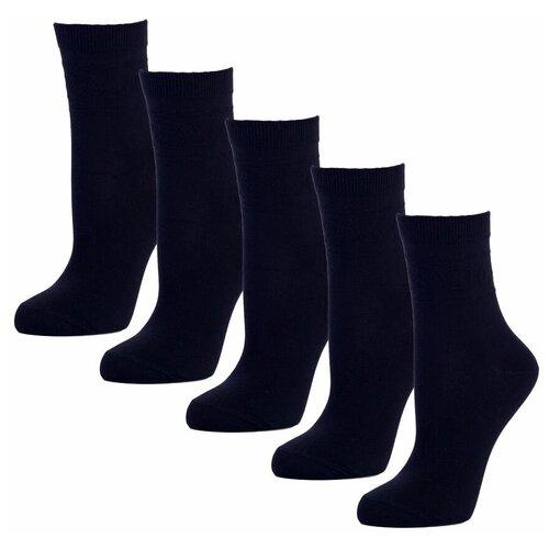 Комплект женских носков из хлопка черного цвета, 5 шт,р-р 37-39