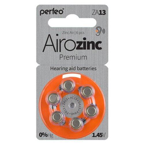 Фото - Батарейки Perfeo ZA13/6BL Airozinc Premium (6 штук) батарейки perfeo za312 6bl airozinc premium 6 штук