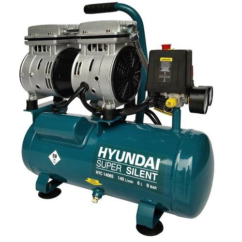 Фото - Компрессор безмасляный Hyundai HYC 1406S, 6 л, 0.75 кВт компрессор безмасляный hyundai hyc 3050s 50 л 2 квт