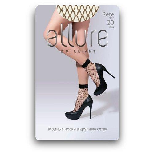 Капроновые носки ALLURE Rete maxi 20 den, размер универсальный, glase