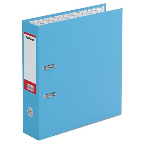Berlingo Папка-регистратор с металлической окантовкой Hyper A4, 80 мм, крафт-бумага голубой