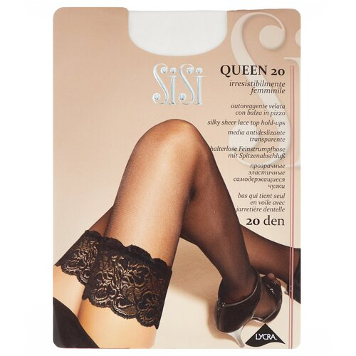 Чулки Sisi Queen, 20 den, размер 2-S, bianco (белый)