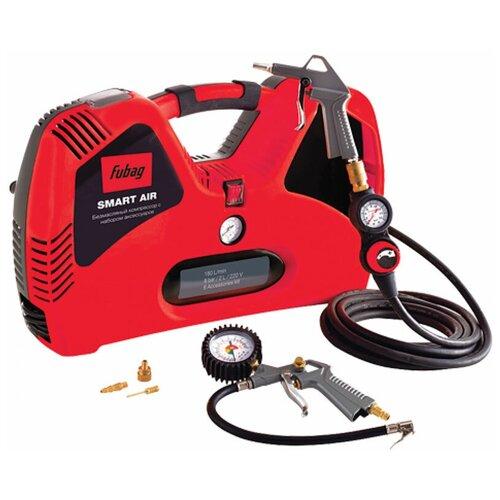 Фото - Компрессор безмасляный Fubag Smart Air + набор из 6 предметов, 2 л, 1.1 кВт компрессор безмасляный fubag paint master kit 6 л 1 1 квт