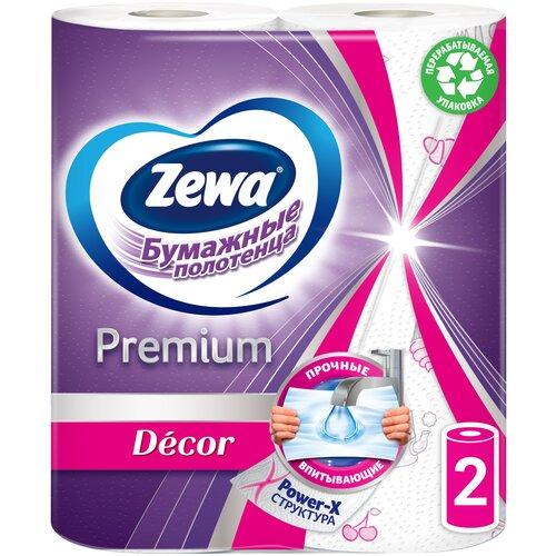 Фото - Полотенца бумажные Zewa Premium Декор белые двухслойные 2 рул. полотенца бумажные zewa premium 2 слоя 2 рулона