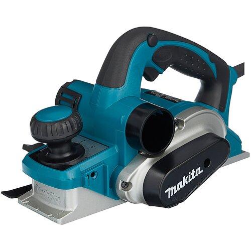 Сетевой электрорубанок Makita KP0810, 850 Вт синий/черный/серый сетевой электрорубанок makita 1911b 900 вт 900 вт синий
