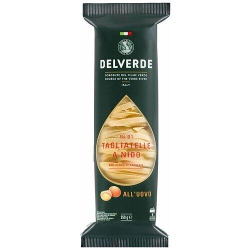 Delverde Industrie Alimentari Spa Макароны № 91 Tagliatelle all'uovo a Nido, 250 г
