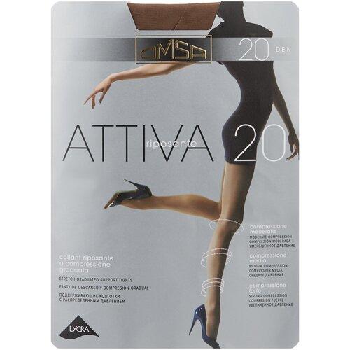 Колготки Omsa Attiva, 20 den, размер 2-S, camoscio (коричневый) колготки omsa attiva 20 den размер 2 s marrone коричневый