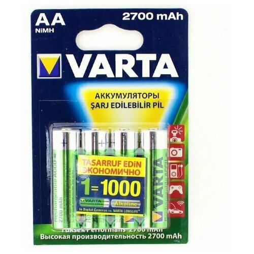 Фото - Аккумуляторы типа AA VARTA HR06 (комплект 4 штуки) 2700mAh аккумуляторы типа aa varta longlife комплект 4 штуки 2100mah