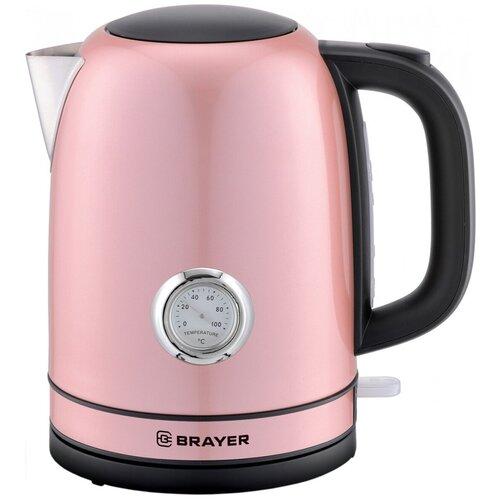 Чайник BRAYER BR1005, розовый