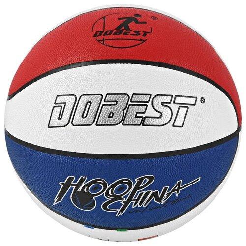 Баскетбольный мяч Dobest PK-885, р. 7 сине-красно-белый