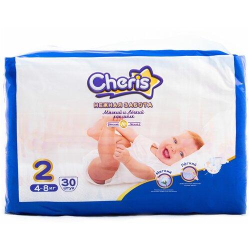Cheris подгузники Нежная забота 2 (4-8 кг), 30 шт. по цене 589