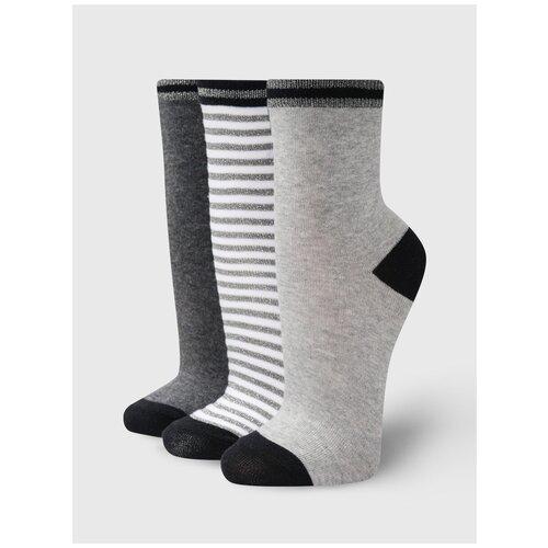 Набор носков, 3 пары ТВОЕ A7129 размер ONES, мультицвет, WOMEN