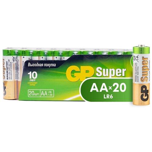 Фото - Батарейка GP Super Alkaline AA, 20 шт. батарейка energizer max plus aa 4 шт