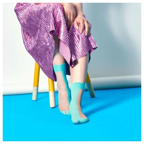 Носки для девушек Filippa Nylon Ankle - White/Mint 36-41