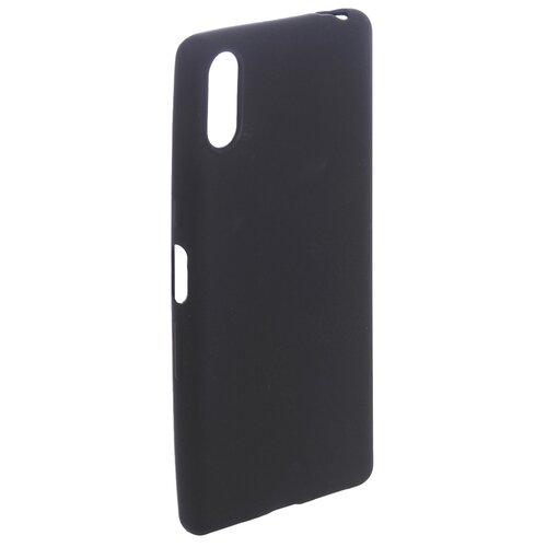 Чехол Brosco для Sony Xperia L3 Black L3-COLOURFUL-BLACK чехол для sony h4113 xperia xa2 brosco накладка розовый