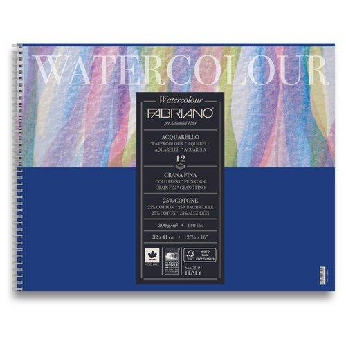 Фото - Альбом-склейка для акварели Fabriano Acquarello 32х41 см 12л 300г/м.кв 17663241 альбом для акварели fabriano watercolour 300 г м2 а6 10 5 х 14 8 см склейка с одной стороны 20 л
