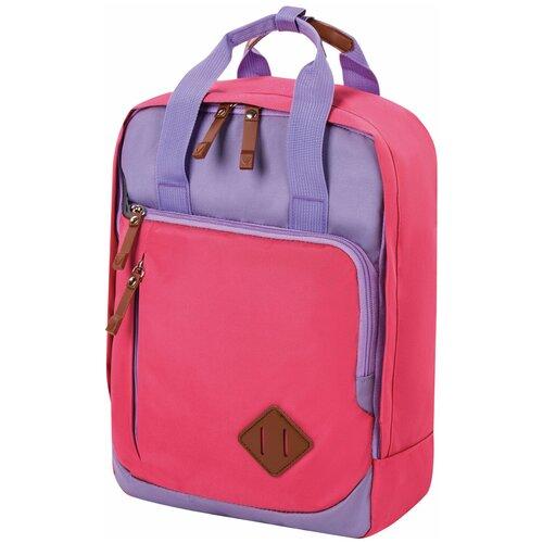 Фото - Рюкзак молодежный Brauberg Friendly, розово-сиреневый, 37*26*13 см (270092) рюкзак brauberg friendly молодежный горчично фиолетовый 37х26х13 см 270093