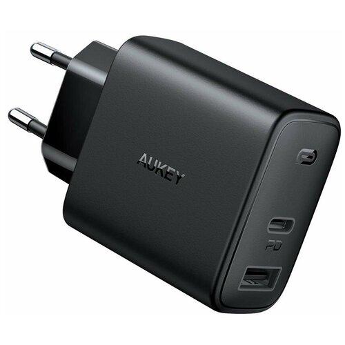 Фото - Сетевое зарядное устройство Aukey Swift Mix Dual-Port 20W PD + Aipower 12W сетевое зарядное устройство aukey travel charger pa u32 12w 2xusb a черное