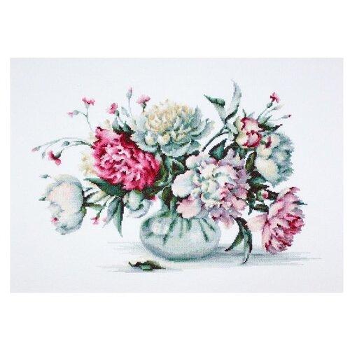 Купить Набор для вышивания «Пионы», 34, 5x23 см, Luca-S, Наборы для вышивания