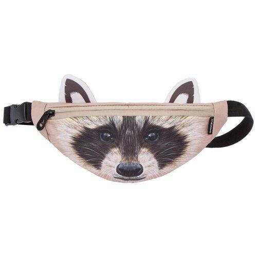 Поясная сумка Grizzly, текстиль, енот