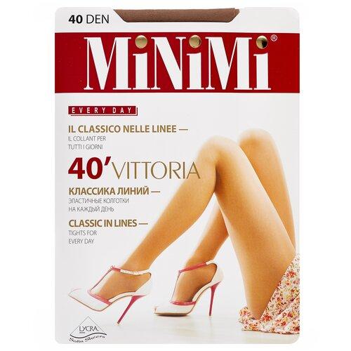 Фото - Колготки MiNiMi Vittoria, 40 den, размер 4-L, daino (бежевый) колготки minimi slim control 40 den размер 4 l daino бежевый