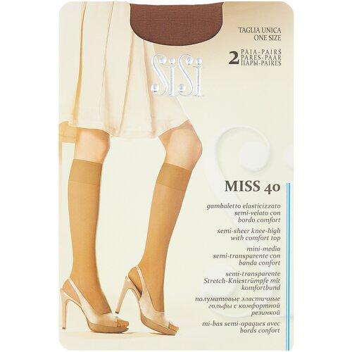 Капроновые гольфы Sisi Miss 40 den New, 2 пары, размер 0 ( one size), daino