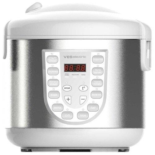 Мультиварка VES electric SK-A13, белый/нержавеющая сталь вафельница ves sk a8 y