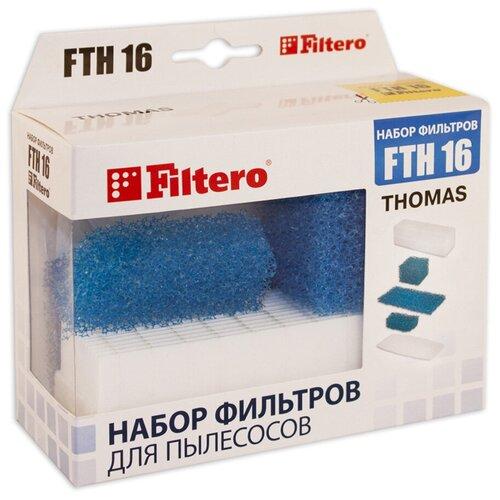 Фото - Filtero Набор фильтров FTH 16 1 шт. набор фильтров filtero fth 24 bsh hepa