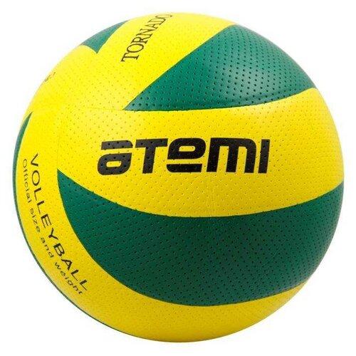 Волейбольный мяч ATEMI Tornado PVC желто-зеленый