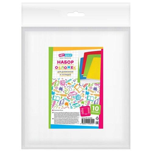 Фото - ArtSpace Набор обложек для дневников и тетрадей 210x350 мм, 60 мкм, 10 штук прозрачный artspace набор обложек для дневников и тетрадей 208х346 мм 100 мкм 10 штук прозрачный