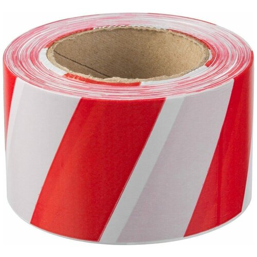 Фото - Сигнальная лента, цвет красно-белый, 75мм х 200м, ЗУБР Мастер оградительная лента зубр мастер 12240 75 200 красный белый 1 шт