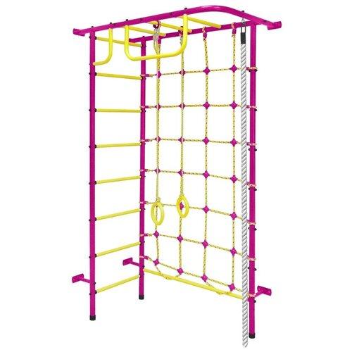 Спортивно-игровой комплекс Пионер 8М, пурпурный/желтый