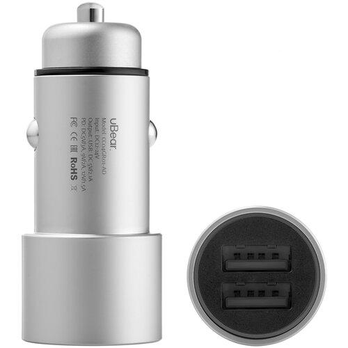 Фото - Автомобильное зарядное устройство uBear RIDE 2 USB-A Car Charger, CC03GR01-AD зарядное устройство nokia essential wall charger ad 5we