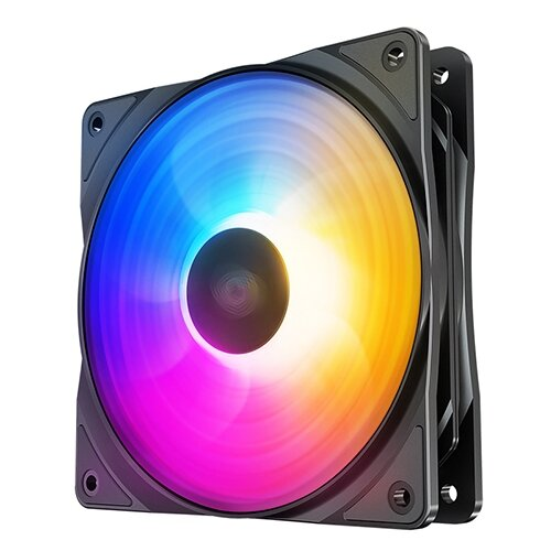 Вентилятор для корпуса Deepcool RF 120 FS черный/RGB 1 шт.