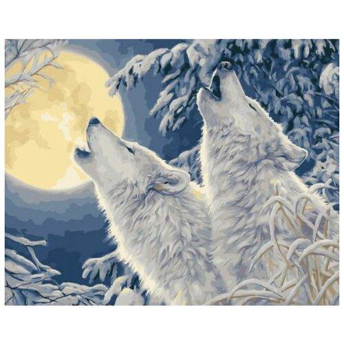 Волчий вой в зимнем лесу