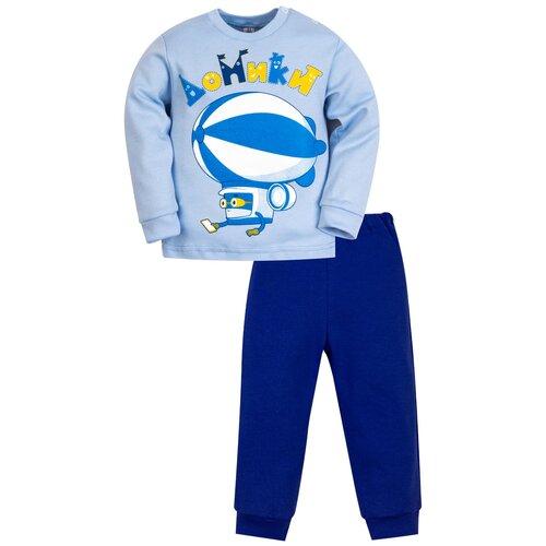 Пижама Утенок размер 92, голубой/василек