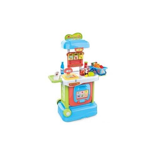 Купить Игровой набор Магазин Продукты, в компл.34 предм., свет, звук, бат.AA*2шт. в компл.не вх. Shantoy Gepay W807, Наша игрушка, Играем в магазин