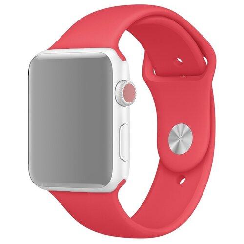 Ремешок для Apple Watch 1-6/SE силиконовый 38/40 мм InnoZone - Малиновый (APWTSI38-36)