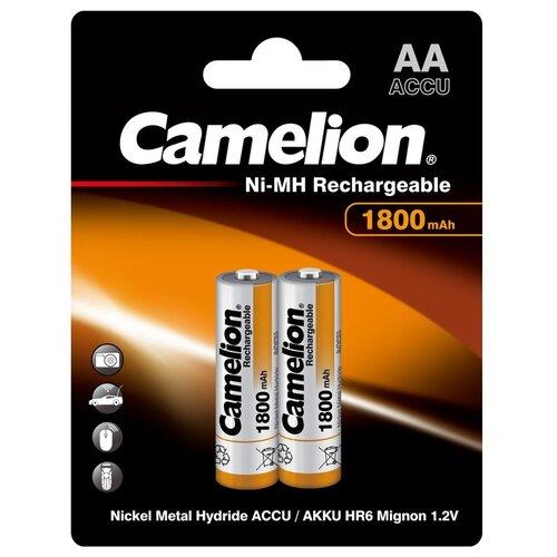 Фото - Аккумулятор Ni-Mh 1800 мА·ч Camelion NH-AA1800, 2 шт. аккумулятор ni mh 1000 ма·ч camelion nh aaa1100 2 шт
