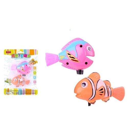 Купить Игрушка заводная для ванной Junfa Рыбки Потеша 2шт (розовая и оранжевая), Junfa toys, Игрушки для ванной