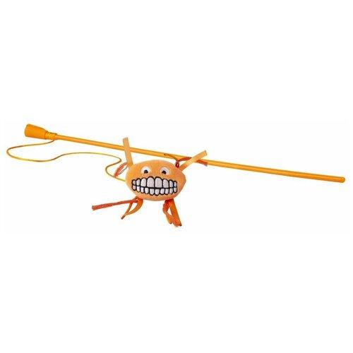 Фото - Игрушка для кошек Rogz Catnip Flossy Magic Stick orange rogz rogz catnip flossy magic stick pink игрушка дразнилка для кошек в виде удочки с плюшевым мячом розовая
