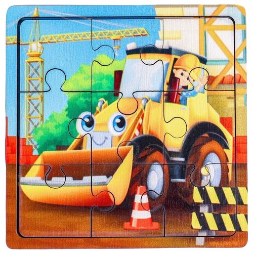 Купить Рамка-вкладыш Лесная мастерская Трактор П 307 (4930526), 9 дет. разноцветный, Пазлы