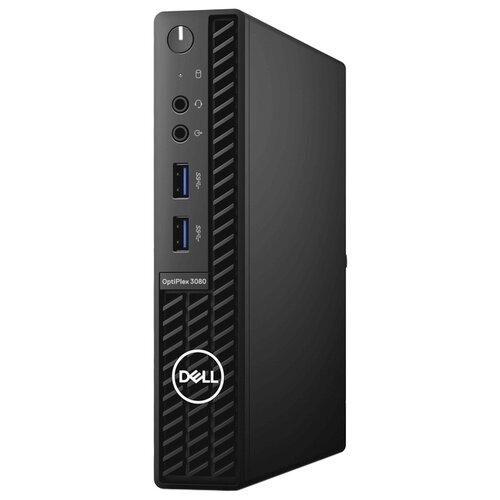 Настольный компьютер DELL Optiplex 3080 Micro (3080-6629) Intel Core i3-10100T/4 ГБ/128 ГБ SSD/Intel UHD Graphics 630/Linux черный