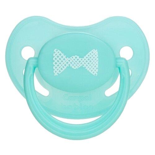 Купить Пустышка силиконовая анатомическая Canpol Babies Pastelove 6-18 м, бирюзовый, Пустышки и аксессуары