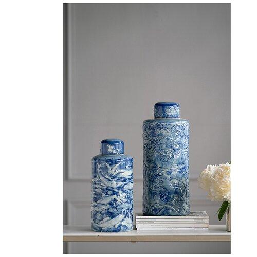 ваза с крышкой glasar 19x19x45 см Ваза с крышкой 16x16x36 см